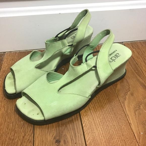 Arche scarpe   scarpe  Wedge Sandalo Slingback verde   Poshmark b10804